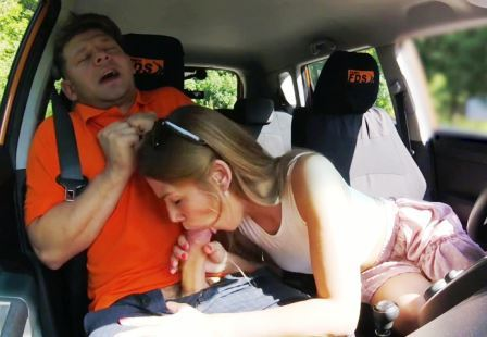 Fake Driving School Alexis Crystal desires drivers cock