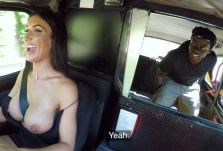 Female Fake Taxi Horny driver hungry for black cock