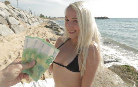 Public Agent Bikini Babe Droned and Boned