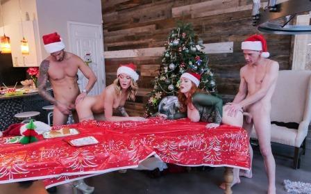 Family Strokes Christmas Family Orgy