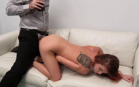 Fake Agent Nipple pierced redhead Russian