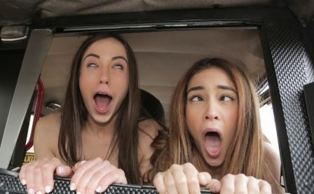FakeTaxi Cheeky Spanish Lesbians fuck Cabbie