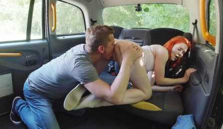 Sex In Taxi Amazing ginger had a free ride